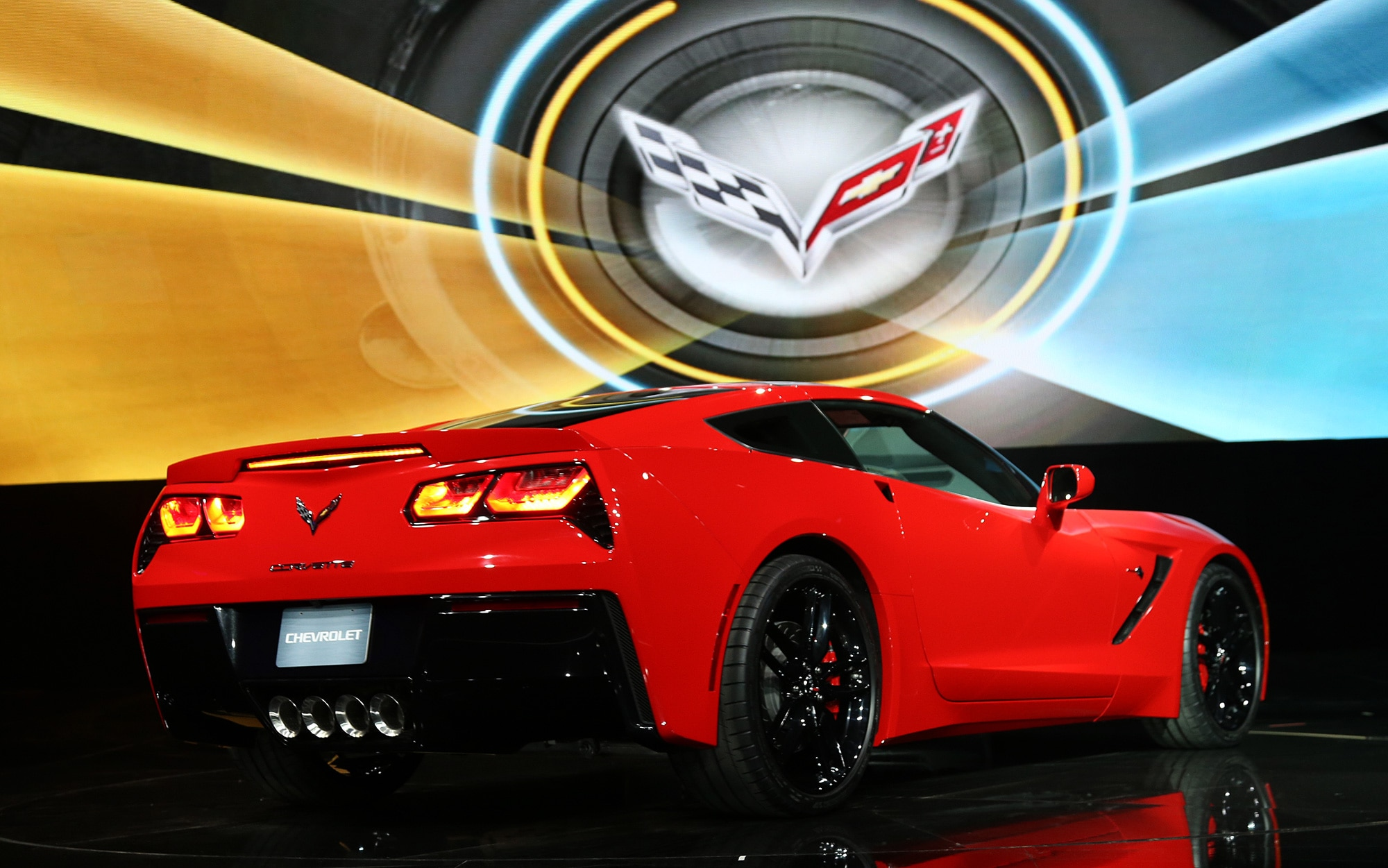 2014 Chevrolet Corvette Live Reveal Passenger Side Rear1