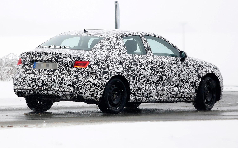 Audi A3 Sedan Prototype Spy Shot Right Rear 11