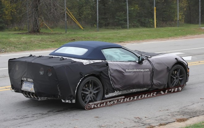 Chevrolet Corvette Convertible C7 Right Rear In Motion Spy Shot 211 660x413