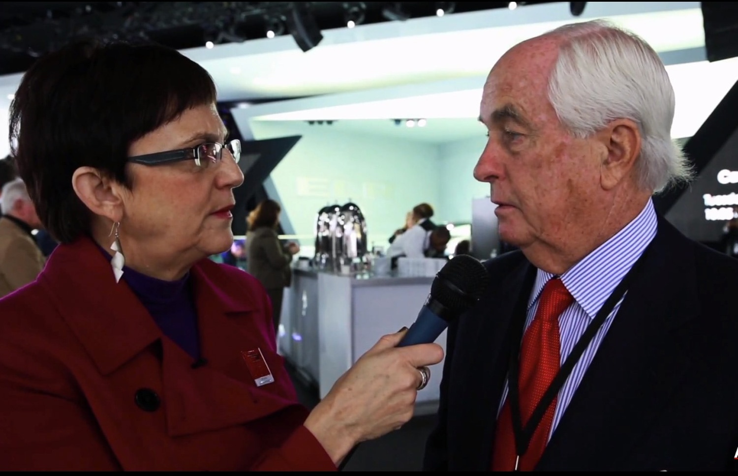 Jean Jennings With Roger Penske