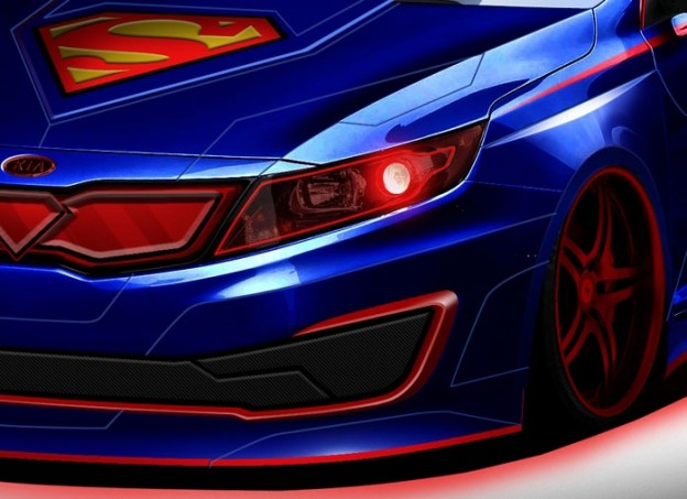 Kia Optima Hybrid Superman1 624x453
