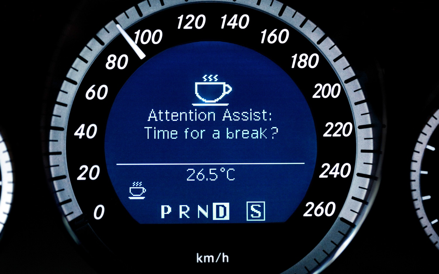 Mercedes Benz Attention Assist Warning1