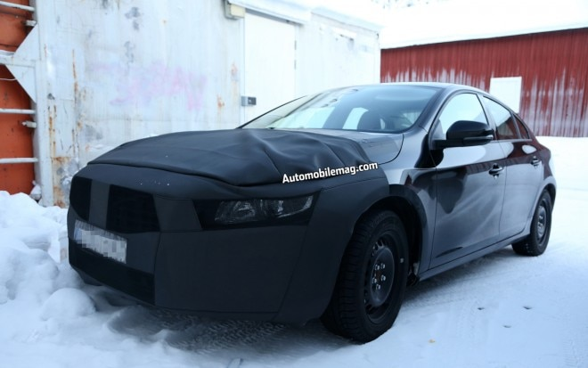 Volvo S60 Prototype Spied Front Left View1 660x413