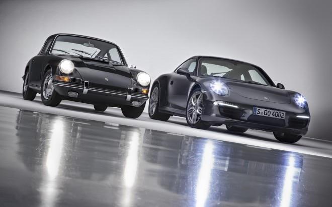 1963 Porsche 911 And 2013 Porsche 911 Front Lights On1 660x413