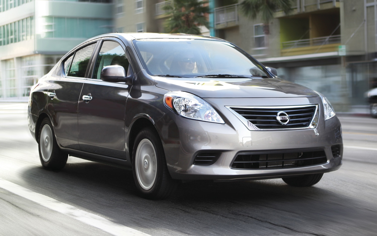 2012 Nissan Versa SV Sedan Front Three Quarter