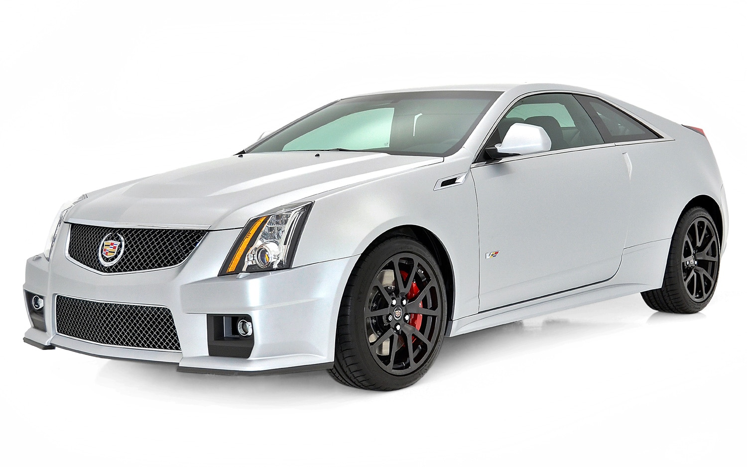2013 Cadillac CTS V Frost Silver Front View1
