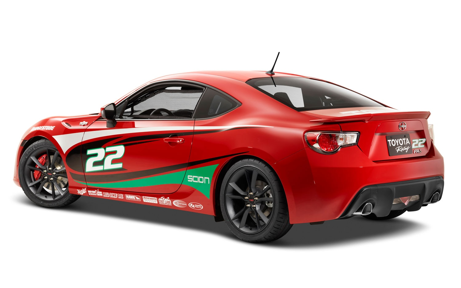 2013 Scion FR S Toyota Pro Celebrity Race Car Rear Three Quarter1