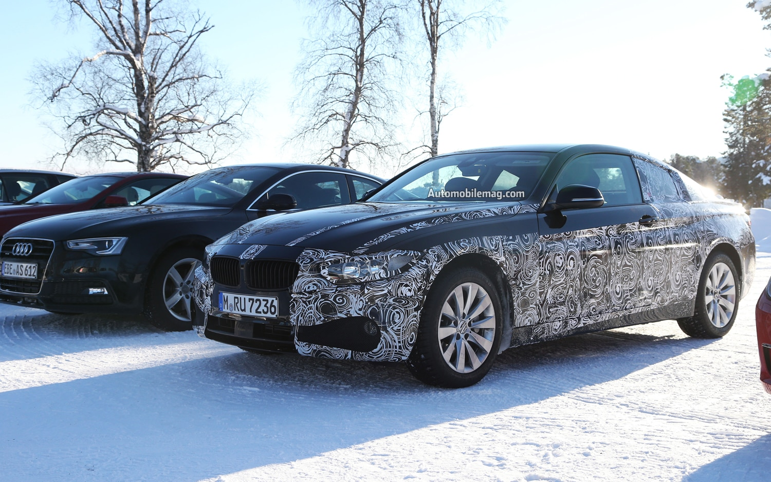 2014 BMW 4 Series Coupe Front Three Quarter Driver And Audi A51