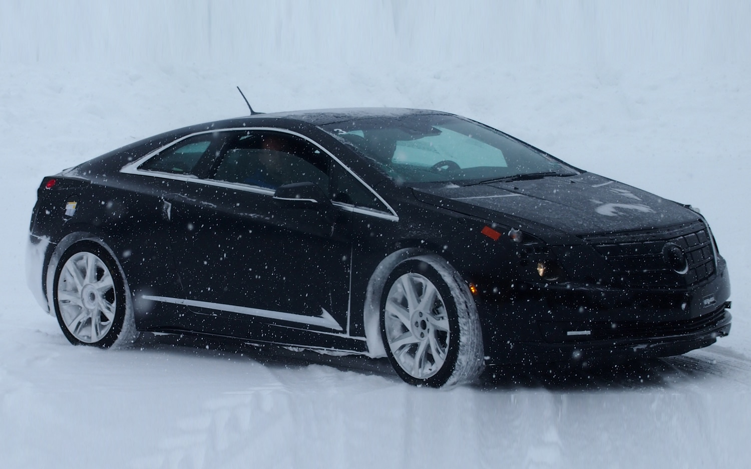 2014 Cadillac ELR Front Three Quarter Winter Testing1