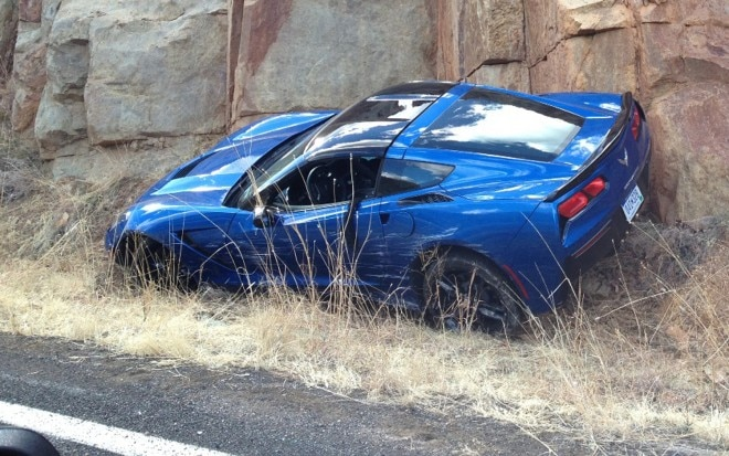 2014 Chevrolet Corvette Stingray Crash1 660x413