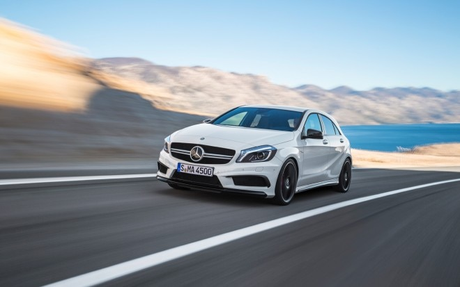 2014 Mercedes Benz A45 AMG Front Left View1 660x413