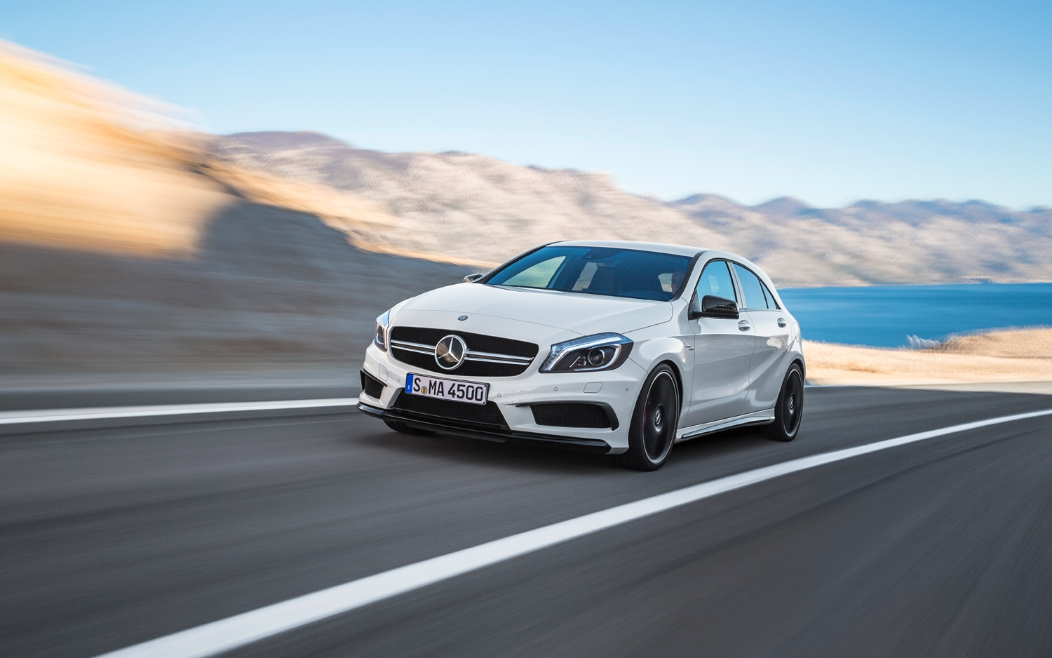 2014 Mercedes Benz A45 AMG Front Left View1