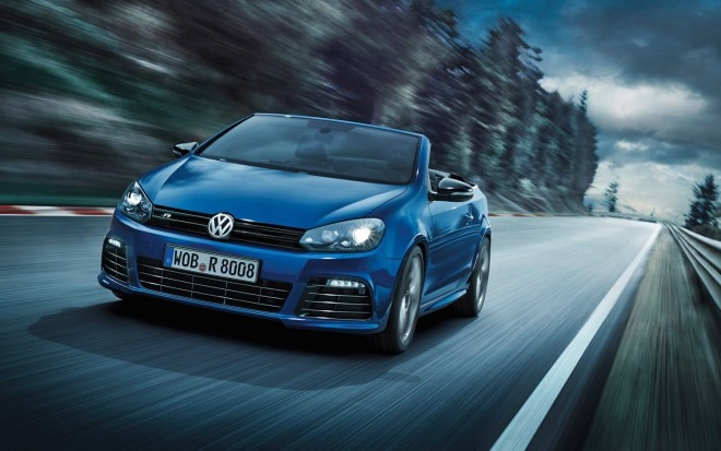 2014 VW Golf R Cabriolet Front Three Quarter 21 660x413