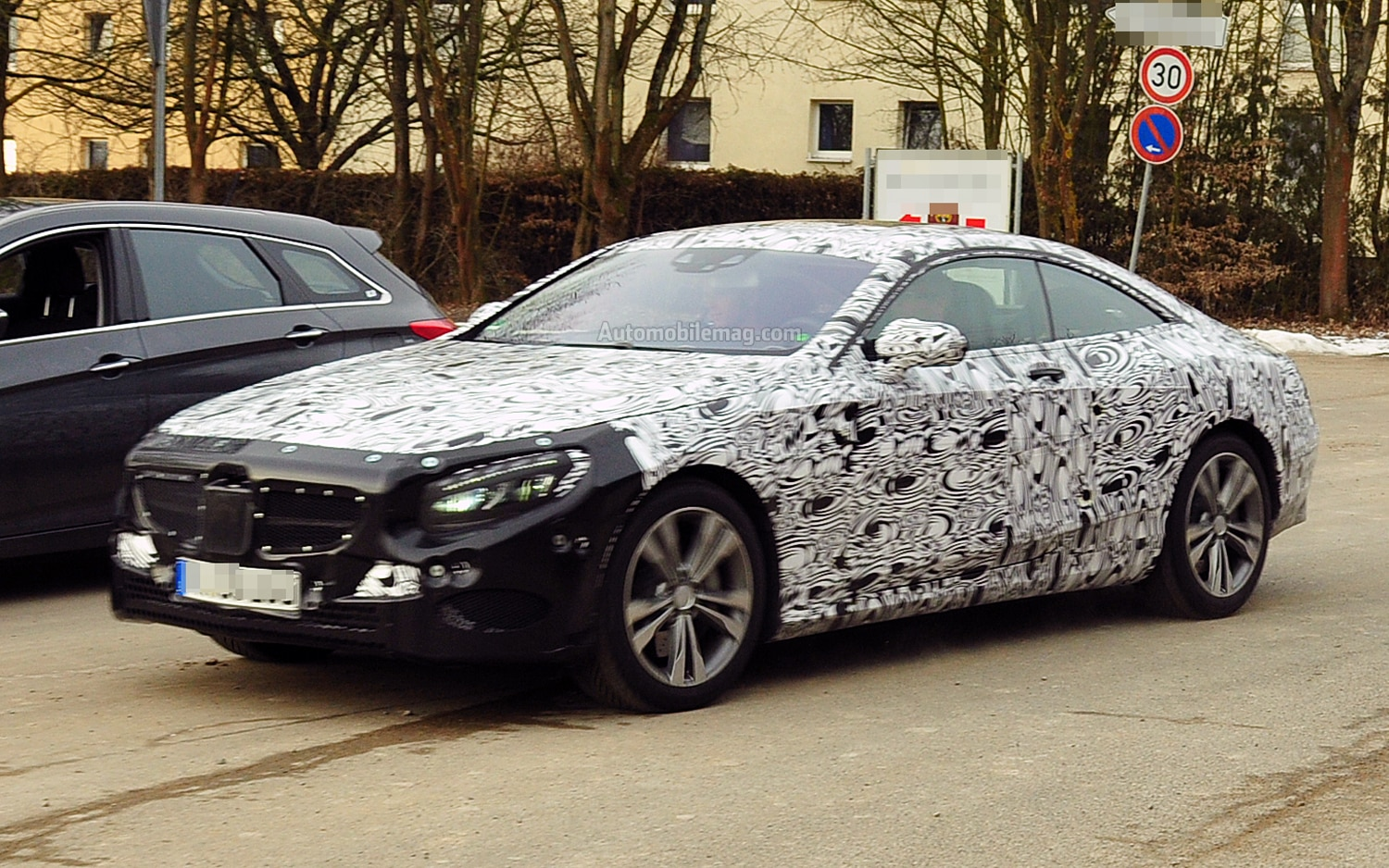 2015 Mercedes Benz S Class Coupe Prototype Front Three Quarter1