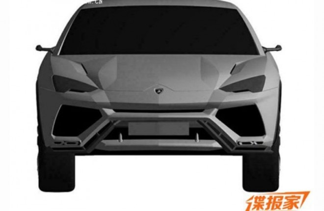 2017 Lamborghini Urus Patent Drawing Front View1 660x430