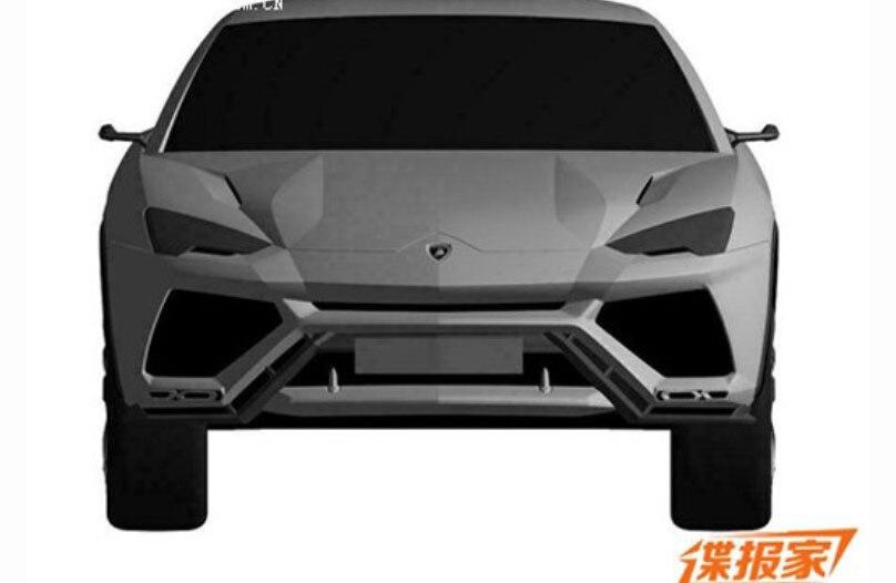 2017 Lamborghini Urus Patent Drawing Front View1