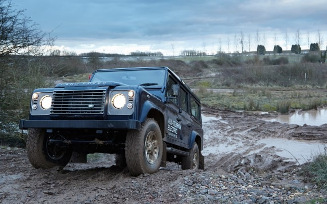 Land Rover Defender EV Front Three Quarter 21 660x413