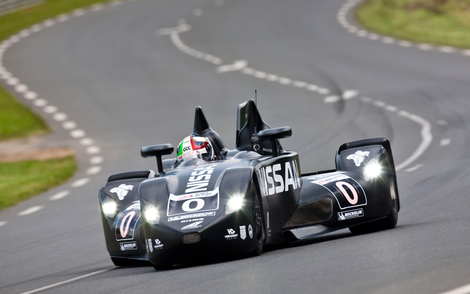 Nissan DeltaWing Racer Front View Motion Le Mans 20121