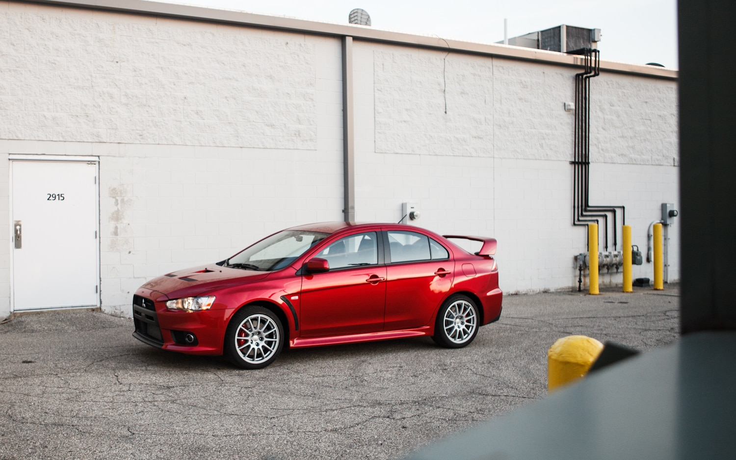 2013 Mitsubishi Lancer Evolution GSR Front Left Side View 21