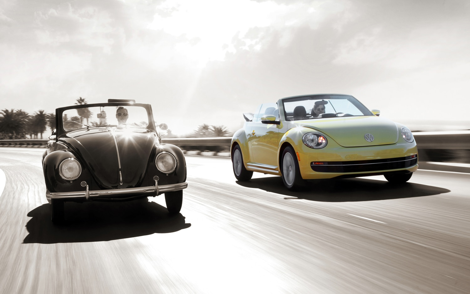 2013 Volkswagen Beetle Convertible And 1949 Hebmueller Cabriolet Front View1