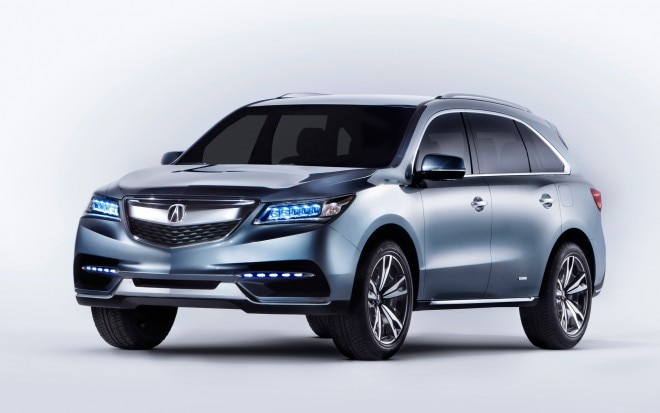 2014 Acura MDX Prototype Front Three Quarter1 660x413