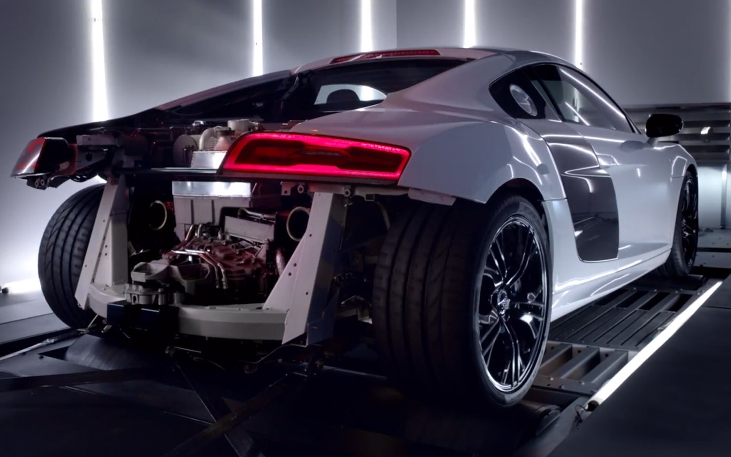 2014 Audi R8 V10 Plus Without Rear Clip Rear Three Quarter