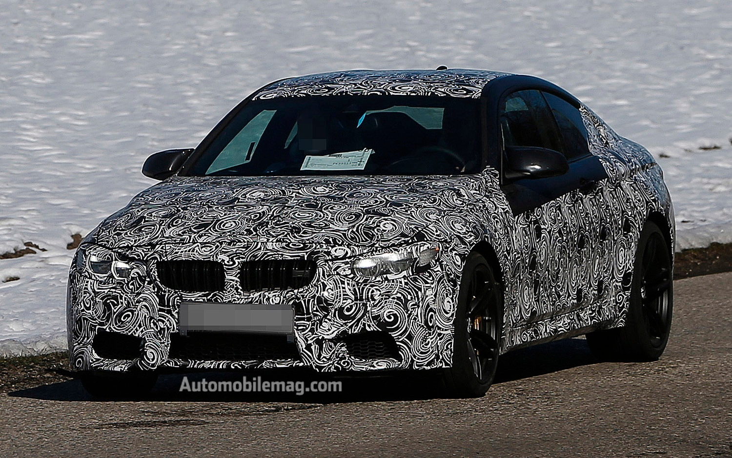 2014 BMW M4 Spied Front Three Quarter 2 AM1