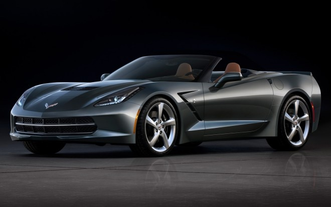 2014 Chevrolet Corvette Stingray Convertible Front Three Quarters View Top Down1 660x413