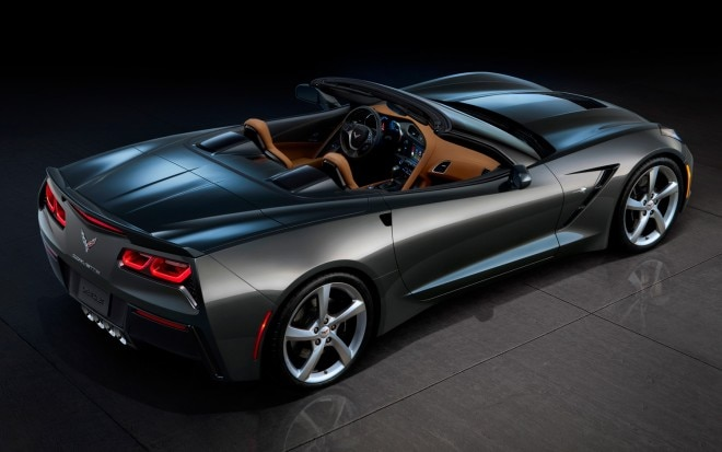 2014 Chevrolet Corvette Stingray Rear Three Quarters View Top Down1 660x413