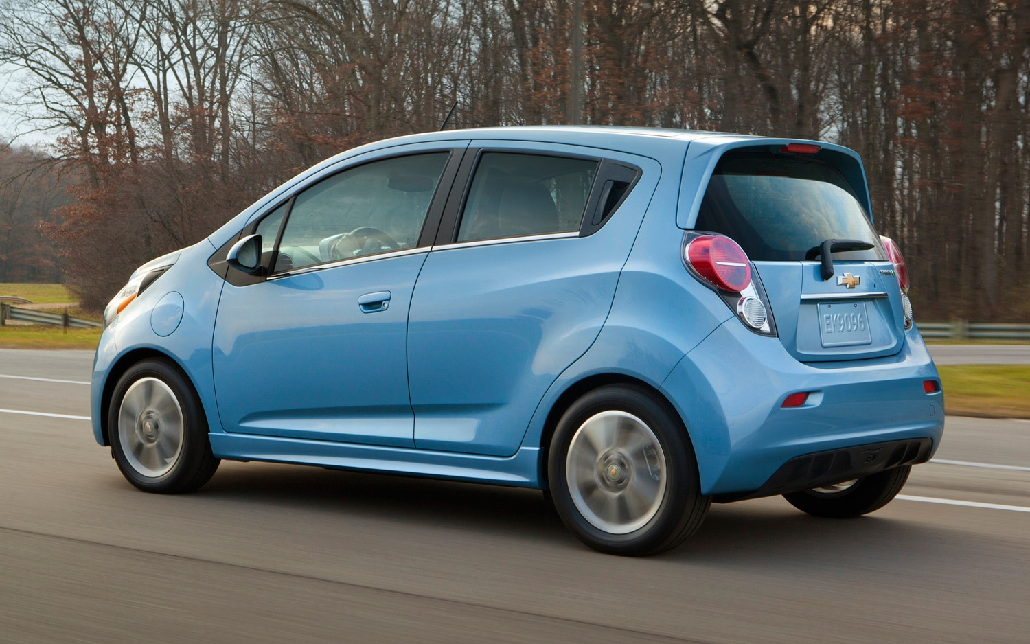 2014 Chevrolet Spark EV Rear Three Quarter1