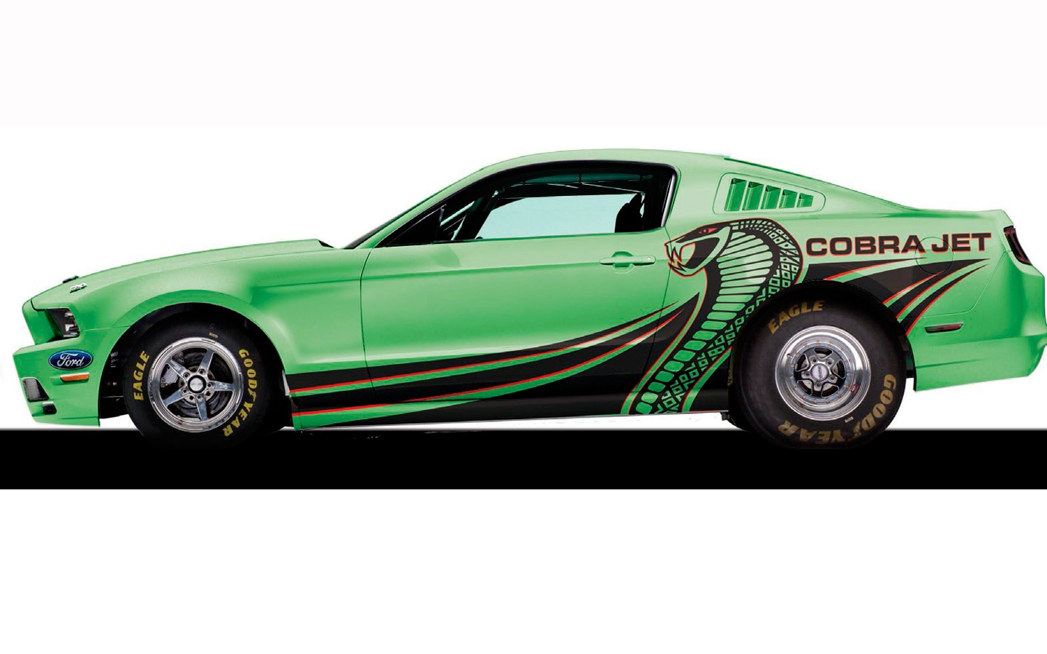 2014 Ford Mustang Cobra Jet Side View Green1