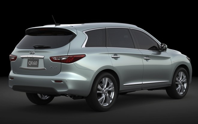 2014 Infiniti QX60 Hybrid Rear Three Quarter 660x413