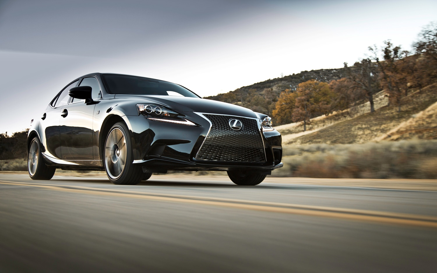2014 Lexus IS 350 Sport Front Three Quarter In Motion1