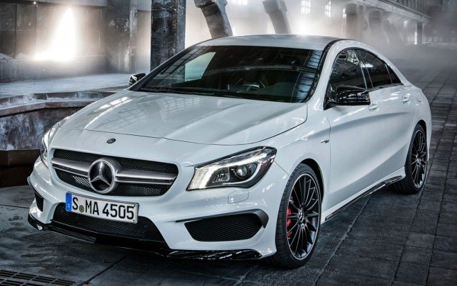 2014 Mercedes Benz CLA 45 AMG Leaked Front Left Side1 660x413