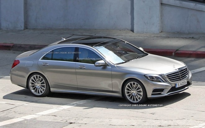 2014 Mercedes Benz S Class Spied Front Three Quarter 21 660x413