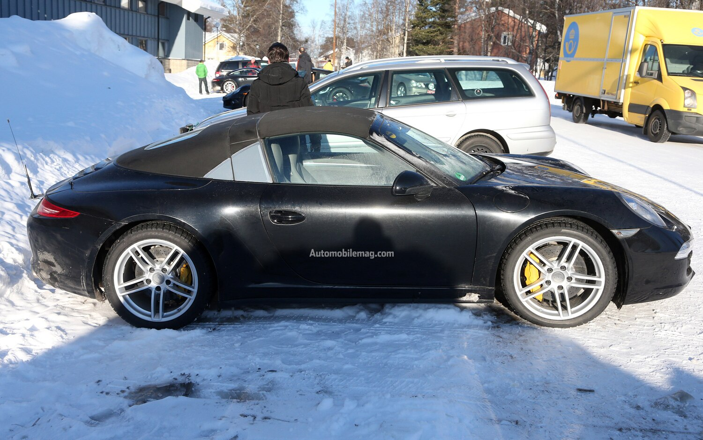 2014 Porsche 911 Targa Spied Profile 21