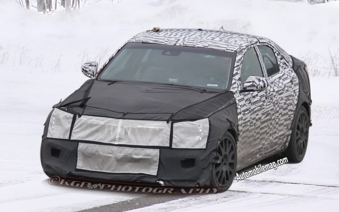 2015 Cadillac ATS V Front Three Quarter 1 Spied1 660x413