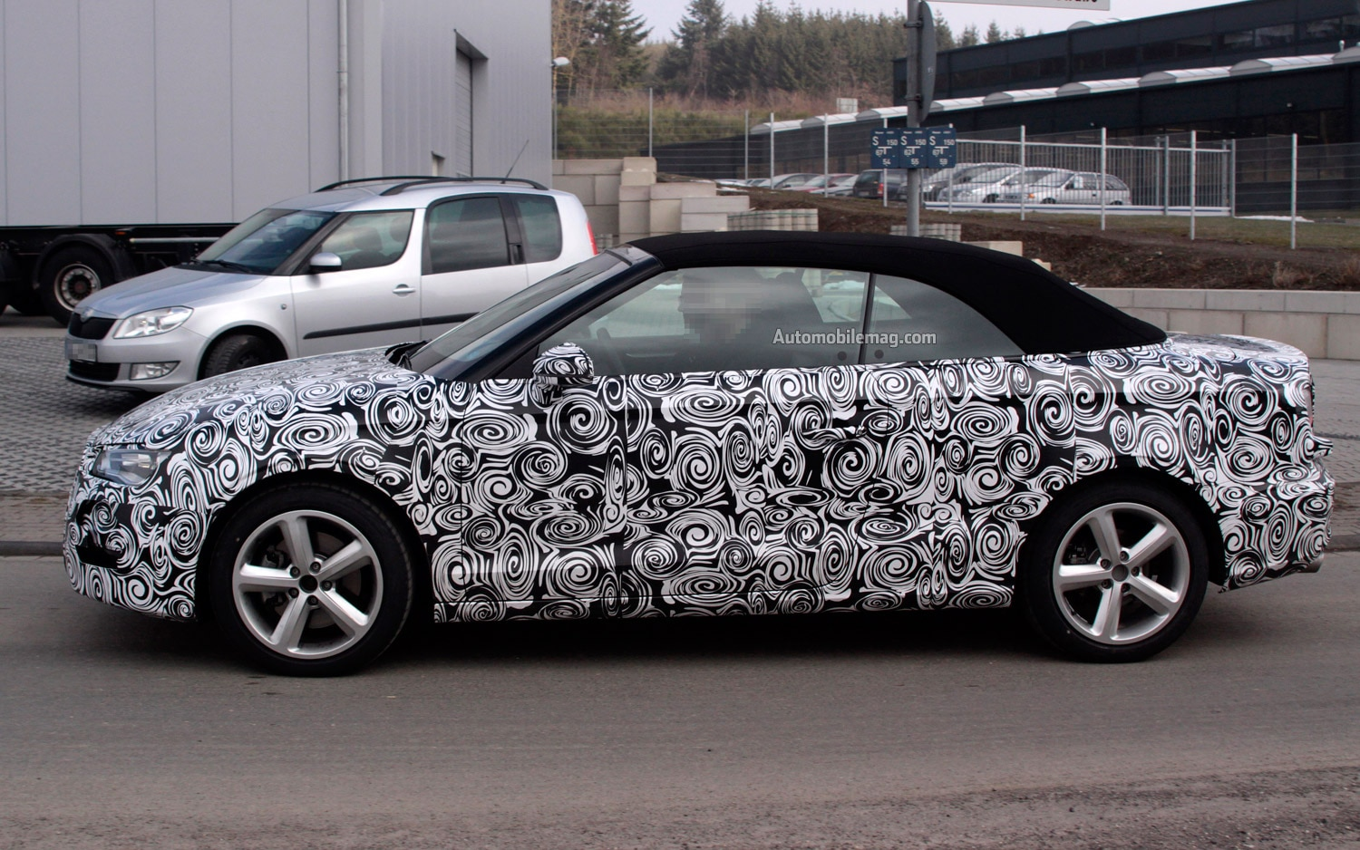 Audi A3 Convertible Spied Profile1