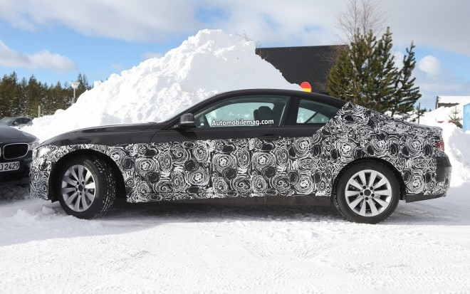 BMW 4 Series Coupe Left Side Spy Shot 11 660x413