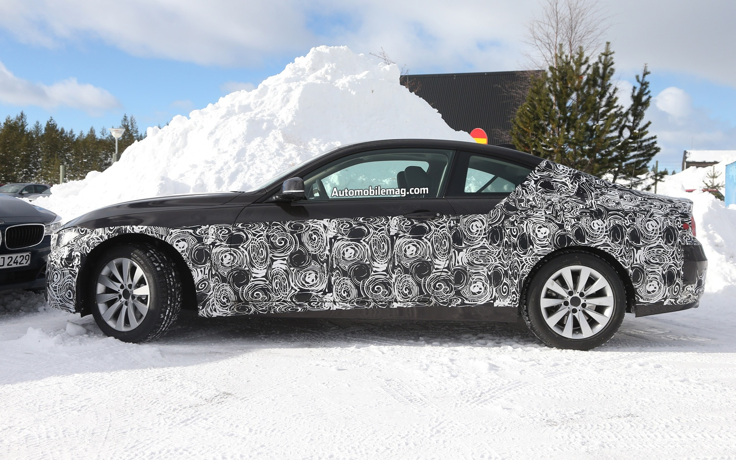BMW 4 Series Coupe Left Side Spy Shot 11