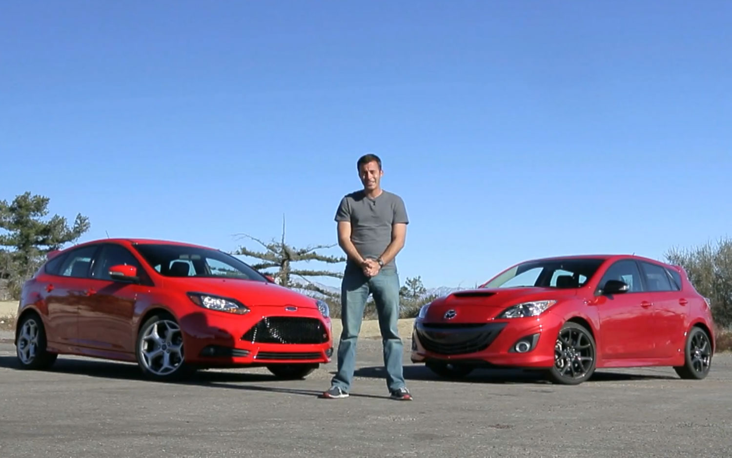 Carlos Lago With 2013 Mazdaspeed3 And 2013 Ford Focus ST1