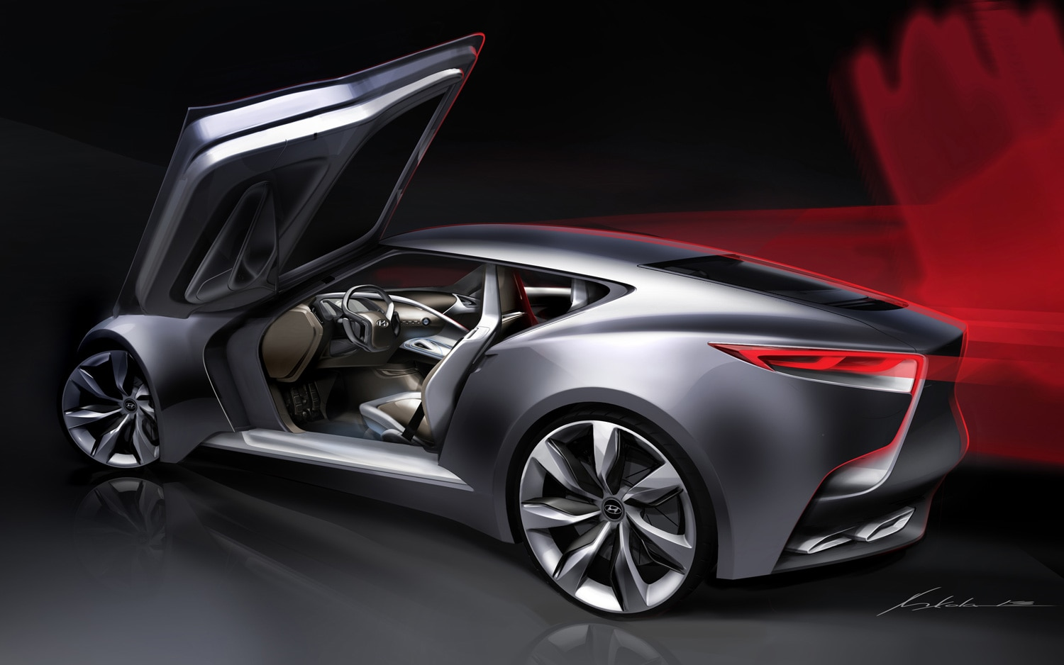 Hyundai HND 9 Concept Rear Three Quarter1