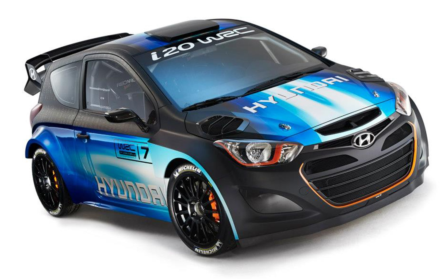 Hyundai I20 WRC Front Three Quarter Over Head1