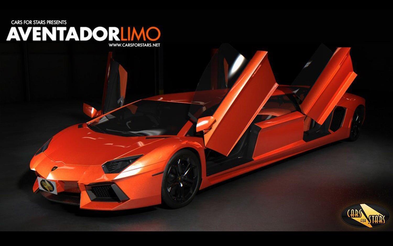 Lamborghini Aventador Limo Front Three Quarter Doors Up1