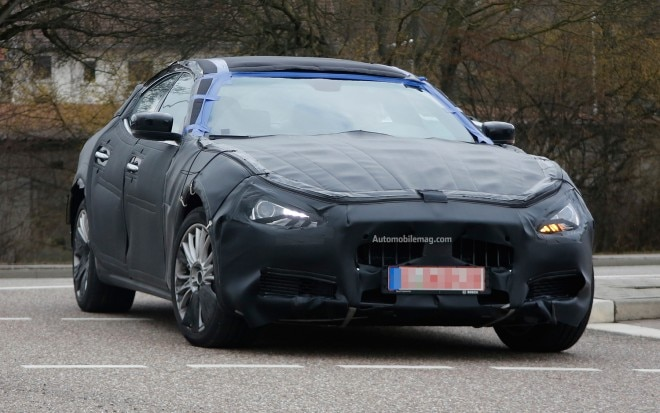 Maserati Ghibli Spied Front Three Quarter 21 660x413