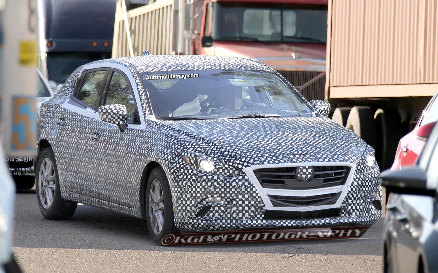 Mazda3 Hatchback Spy Shot Right Front 11