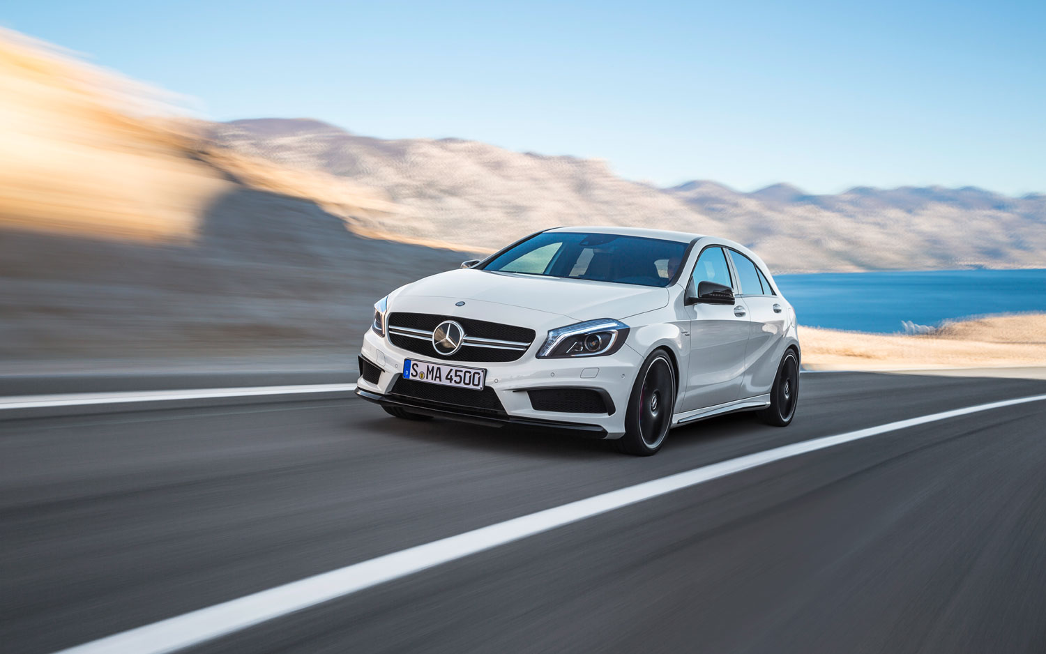 Mercedes Benz A45 AMG Front Left View1