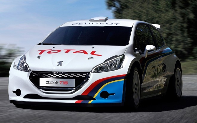 Peugeot Sport 208 T16 Rally Car Front Three Quarters View1 660x413