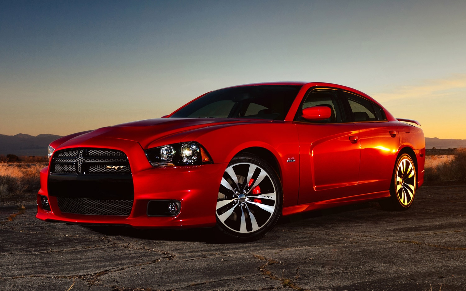 2012 Dodge Charger SRT8 Front Three Quarter1