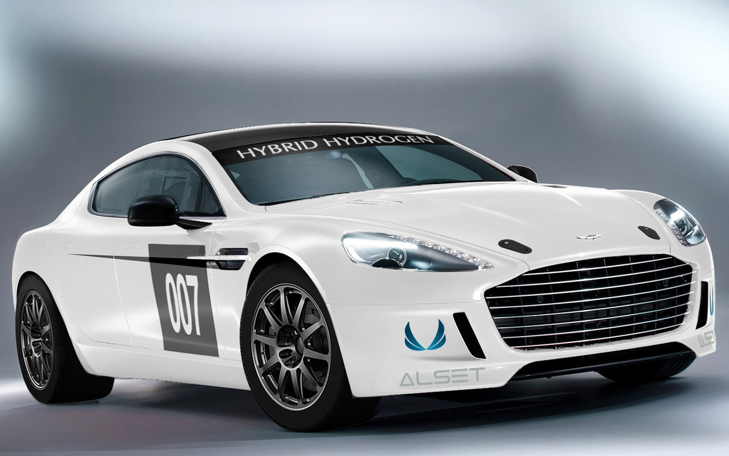 2013 Aston Martin Rapide S Hydrogen Racer Front View1